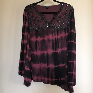 Torrid plus size beaded embroidered blouse Sz 2X